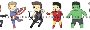 Avenger Stickers by pikarar