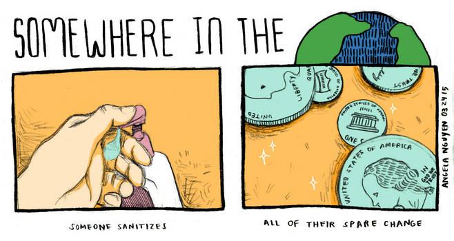 Somewhere in the World: Sanitizing by pikarar