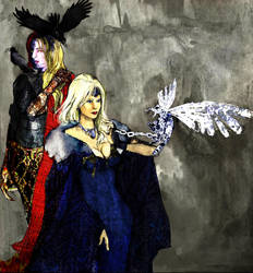 Raven and the white queen by Toomei