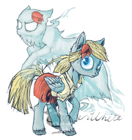 Don't Starve Ponies - Wendy (and Abigail) by Chickenwhite