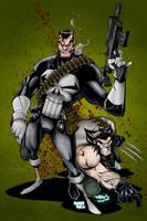Punisher : Wolvie by Smitty-Tut