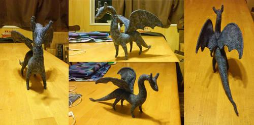 Blue dragon plushie by icedragonsheart