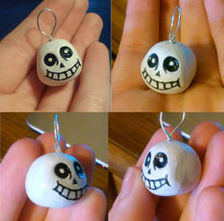 Sans polymer clay charm by icedragonsheart
