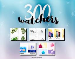 300 Watchers! by Hallyumi