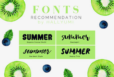 FONTS RECOMMENDATION: Summer by Hallyumi