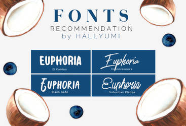 FONTS RECOMMENDATION: Euphoria by Hallyumi