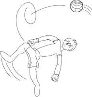 overhead kick by Vandagen