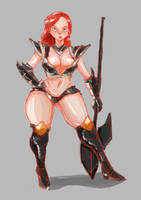 Warrior girl by AlbinosCat