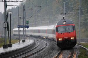 A Rainy Red Day I by SwissTrain