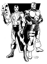 Iron Man and the Silver Agent by ~Joe-Singleton by TheDeviantMakepeace