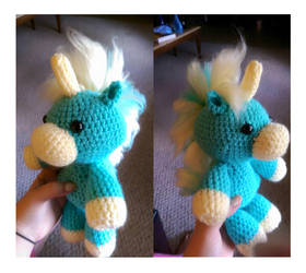 Blue Unicorn Crochet by LittleNii