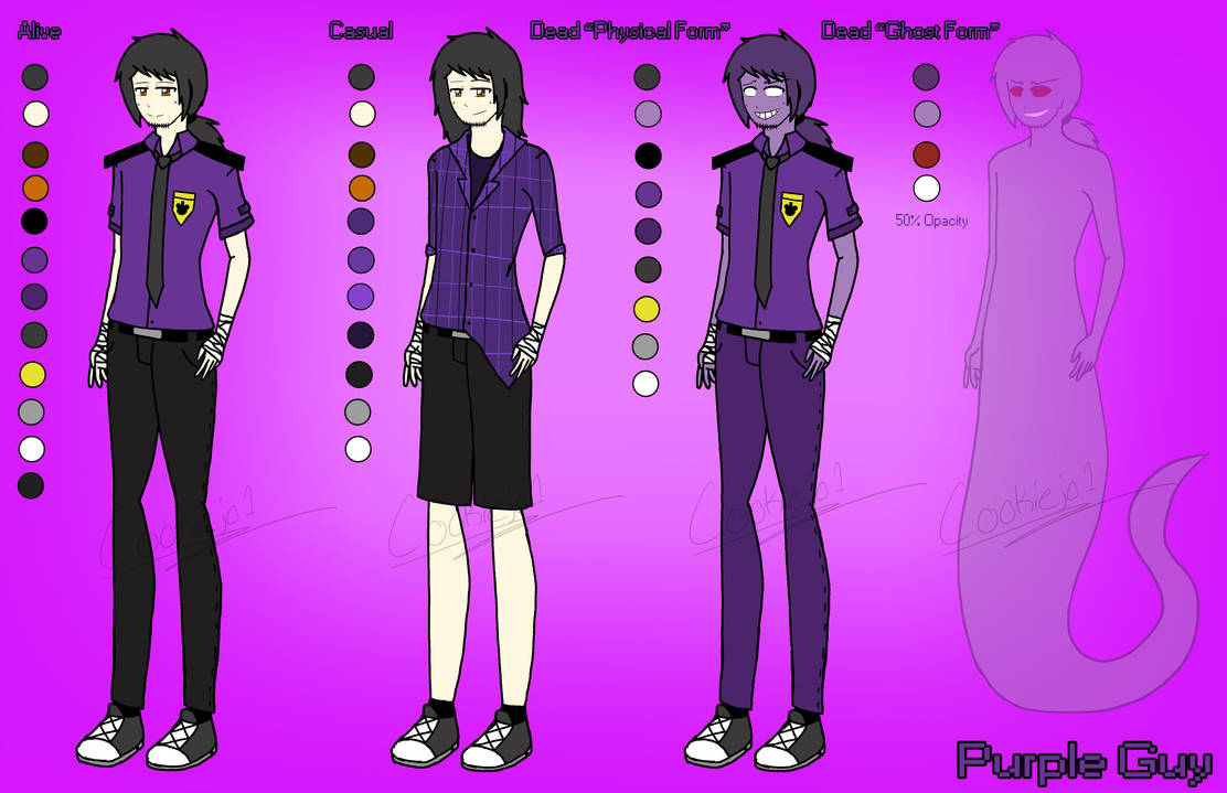 FNaF: Purple Guy Reference Sheet By Cookiejo1 On DeviantArt