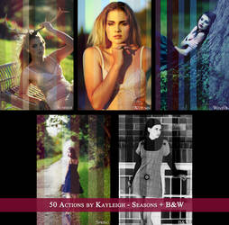 50 ACTIONS - Seasons + Black and White by KayleighJune