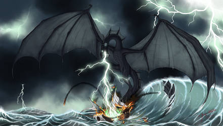Wrath of the Storm God by Draethius