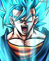 Vegetto Super Saiyan Blue (Dragon Ball Super) by TomislavArtz