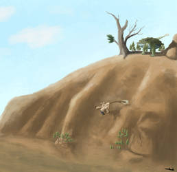 Pinacosaurus is picky about who occupies his hill by Zhombah