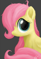 Wary Little Fluttershy by SymbianL