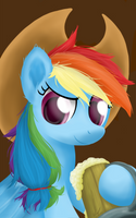 Cowgirl Rainbow Dash by SymbianL