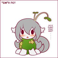 Chibi Puns - ''Chi''a Pet by SymbianL