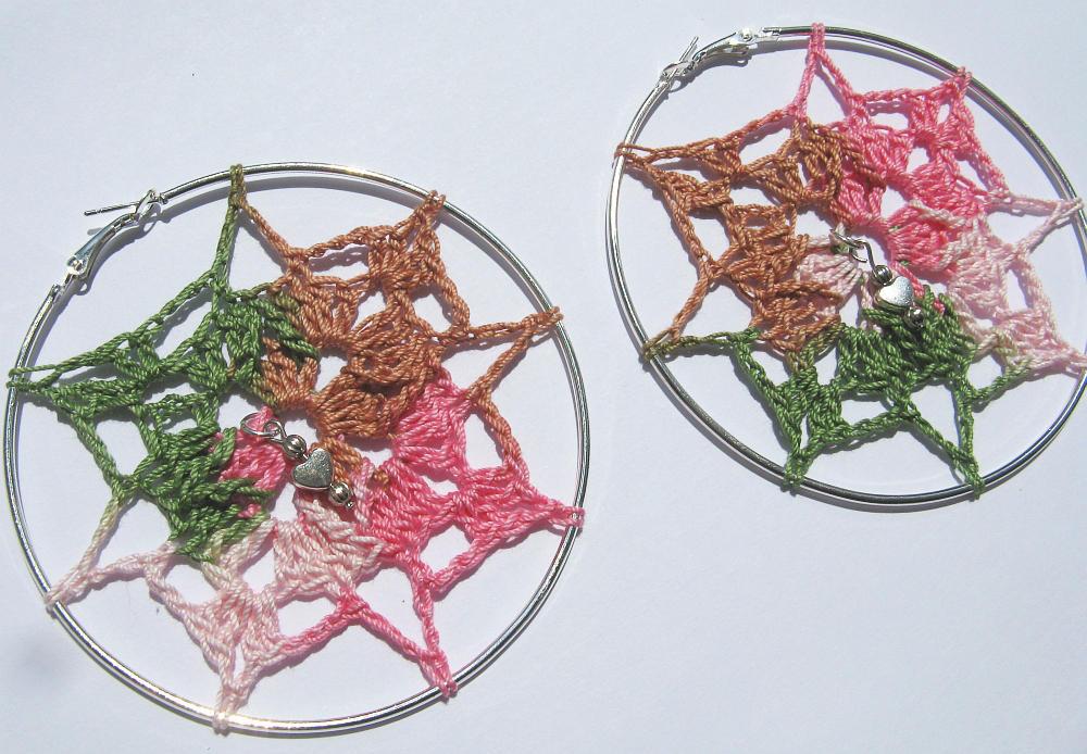 Dream Catcher Inspired Crochet Hoop Earrings By Doilydeas On Deviantart
