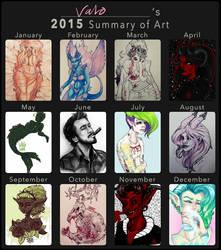 2015 art summary by valokilljoy