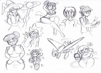 New Year Sketches Part Two by DracoDragite