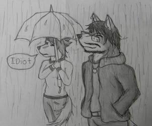 Idiot in Rain by true-ookami
