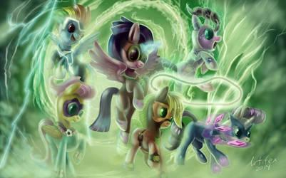 power ponies by zilvart