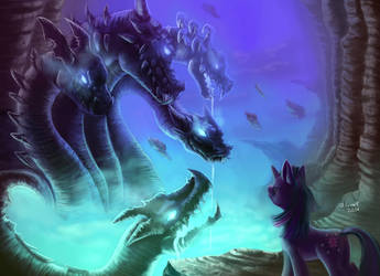 twilight against hydra. by zilvart