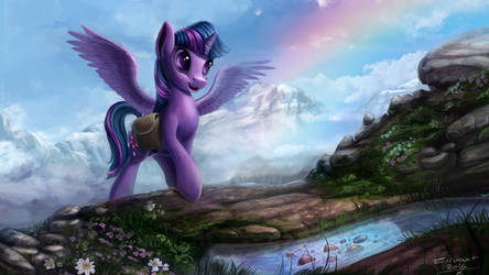 Twilight sparkle on hike by zilvart