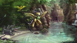 Daring do temple of Chicomoztoc by zilvart