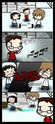 4Koma Friday - A ''Clean'' Fight by KubotaKyosuke