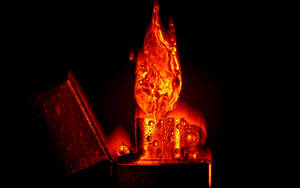 Burning water: Screensaver by Chlorgas