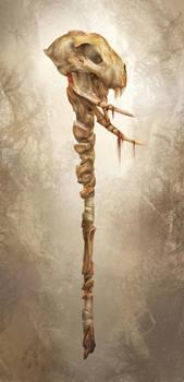 bone staff by yefumm