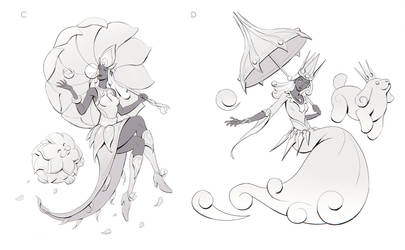 Gwen the Bubble Queen Sketches 2 by yefumm