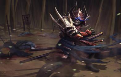 Masked Samurai by Kildibek