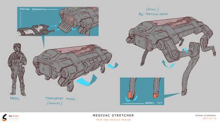 Sci-fi Medical Stretcher by Kildibek
