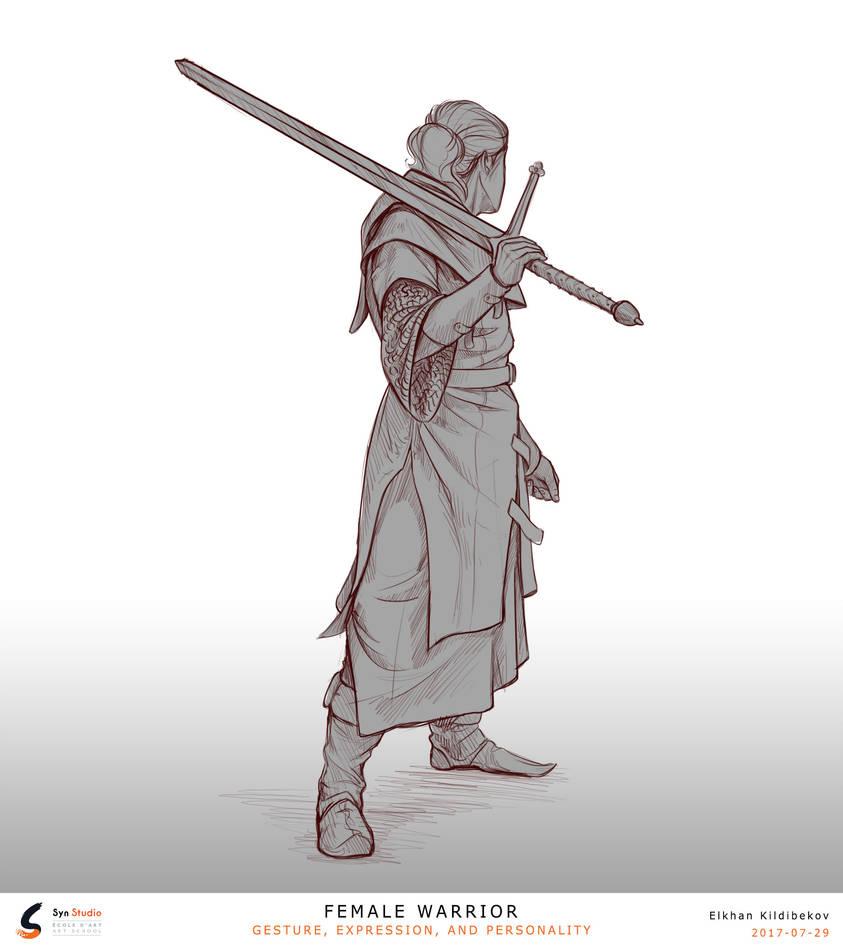 Badass warrior by Kildibek