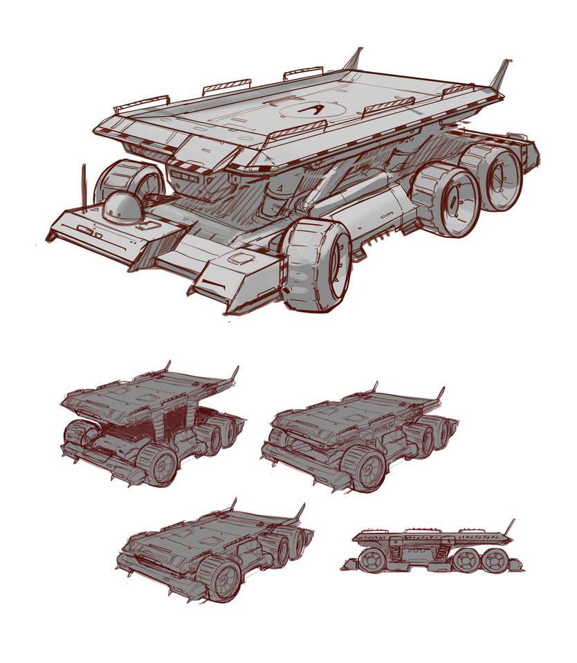 Giant Cargo Vehicle by Kildibek