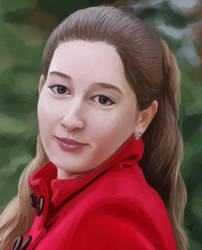 My Cousin's Portrait by HarmfulHamster