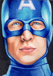 captain America ACEO by Faerytale-Wings