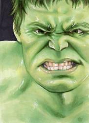 Hulk ACEO by Faerytale-Wings