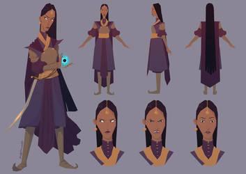 Princess Eshita Character sheet by matthoworth