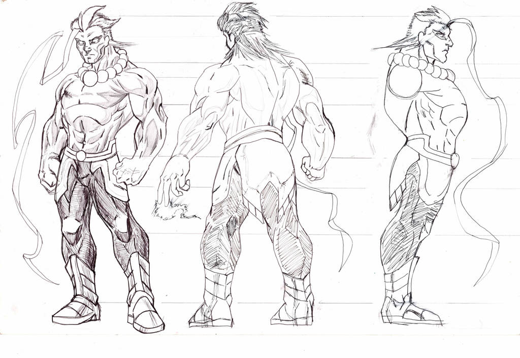character 1 Body Sheet by tdonahue