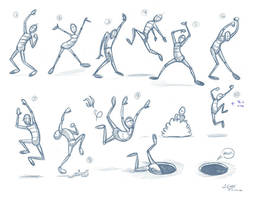excitement poses by JoeyGates