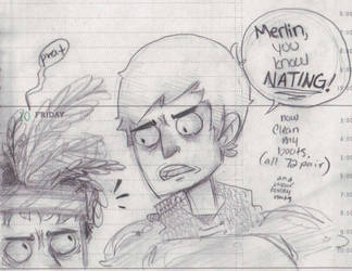 merlin knows NAAATING by cake-monster
