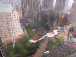 Columbus in the rain by TSofian