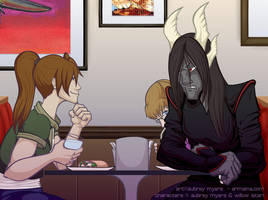 A Friendly Lunch by armaina