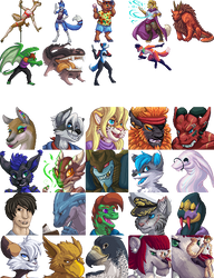 Pixel Commissions 2017 by armaina