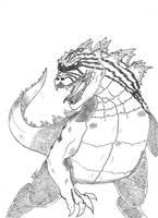 Godzilla by daddyconnolly